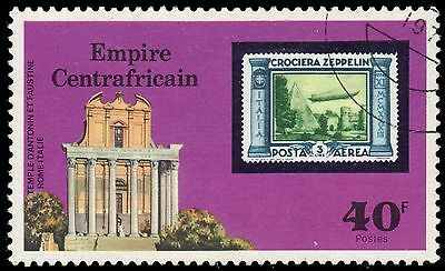 CENTRAL AFRICAN REPUBLIC 295 - Airship Zeppelin 75th Anniversary (pf81208)