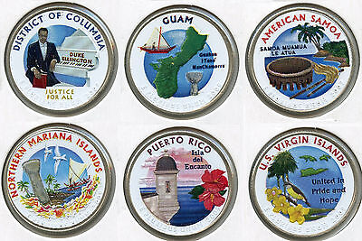 2009 DC & Territories Quarters Coin Set - Colored Collection - Colorized AJ749