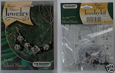 Jewelry Kit #4887 Silent Movie Faceted Elegance Silver