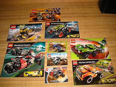 Lego Racers Manuals assorted lot 9 included!!