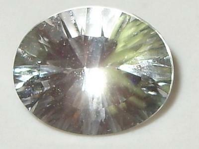 3.75ct Brazil Natural White Topaz Concave Oval Cut 11x9mm SPECIAL