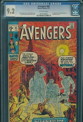AVENGERS #85 CGC 9.2 NM- 1st SQUADRON SUPREME 1st HYPERION II MARVEL BRONZE KEY