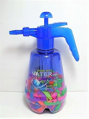 Water Balloon Pumping Station w/ 500 Water Balloons and Water Pump for Kids Blue