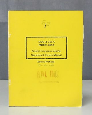 EIP Autohet Frequency Counter Model 350A/351A Operating & Service Manual