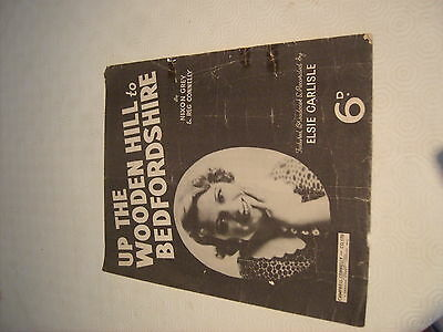 Sheet Music 1936 Up The Wooden Hill To Bedfordshire