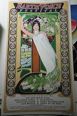 Earth Voice Festival Barenaked Ladies Randy Bachman 92 Orig Poster by Bob Masse