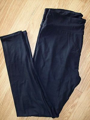 NEW LuLaRoe Solid Black Leggings TC Tall And Curvy Hard To Find