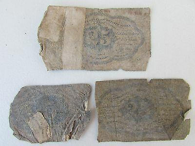 Lot of 3 US Fractional Currency - 2nd Issue - 5 cent & - 1st Issue - 25 cent x 2