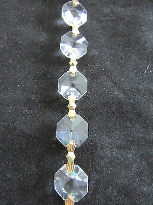 6 feet AAA  CUT CRYSTAL 30 % LEAD CHANDELIER CHAIN PARTS PRISM  SUN CATCHER  b