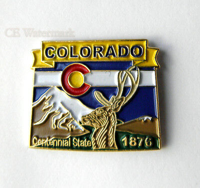 United States Colorado State Name Map Pin Badge 1 Inch