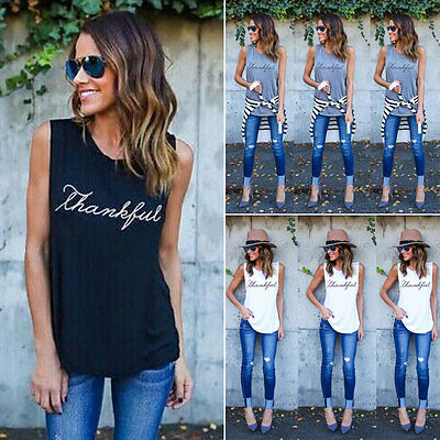 Lady's Fashion Women Summer Vest Top Sleeveless Blouse Casual Tank Tops T-Shirt