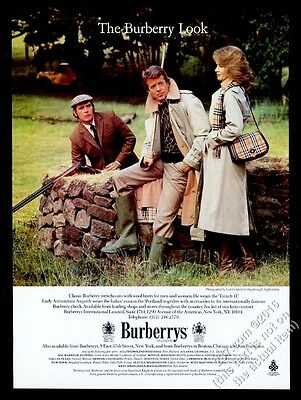 1986 Burberrys trenchcoat purse Lady Annunziata Asquith Lord Lichfield photo ad