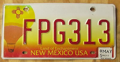 NEW MEXICO BALLOON - Land of Enchantment license plate  2005  FPG313
