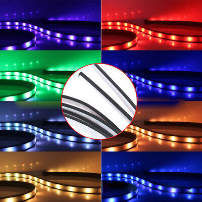 RGB LED Neon Light Strip Under Car Tube Underglow Underbody Glow System Remote