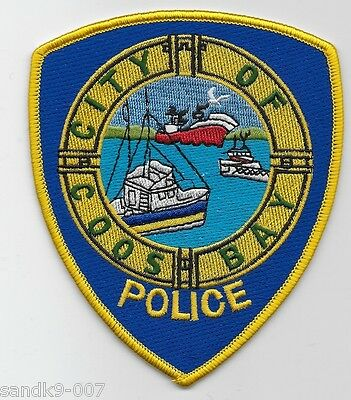 Neat COOS BAY Police State of OREGON OR Shoulder Patch