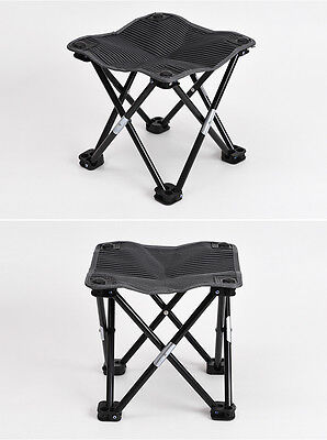 Portable Folding Aluminum Chair Outdoor Fishing Camping Travel Picnic Stool Seat