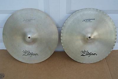 "Avedis ZILDJIAN & CO. 14"" MASTERSOUND HI HAT CYMBALS or HATS! LOT #C162"