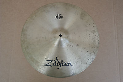 "ZILDJIAN 16"" THIN CRASH CYMBAL ~ 896 grams! LOT #C218"