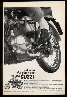 1966 Moto Guzzi 125 Sport motorcycle photo vintage print ad