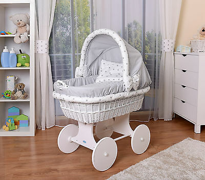 WALDIN Baby Toy wagon,Bassinet XXL new grey with stars