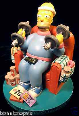 """The Simpsons """"Mr. Fitness"""" Misadventures of Homer Sculpture, Collectible Figure"""