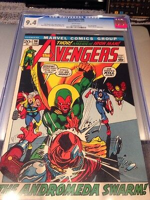 Avengers 96 Cgc 9.4 White Pages Adams Art