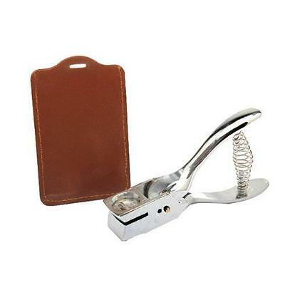 Silver Slot Hole Puncher ID Card Badge Photo Punch Hand Held Metal Steel Tool
