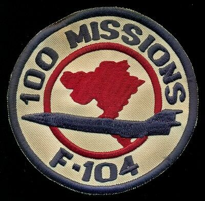 USAF F-104 100 Missions Vietnam Patch S-24