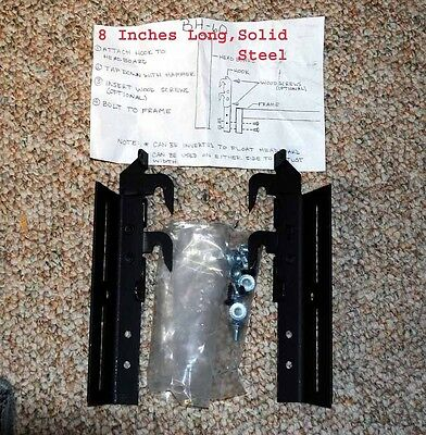 Bed Hook Plate Adapter Pair, New! Attaches Headboard or Foot Board To Any Frame!