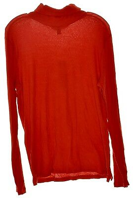 RALPH LAUREN 2710 Size Medium M Womens NEW Red Ribbed Pullover Top Pullover $59