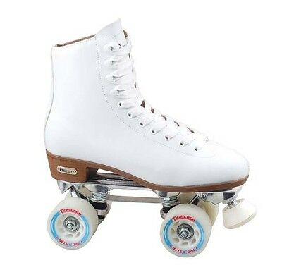 "Deluxe ""Precision"" Ladies Rink Quad Roller Skates from Chicago Skates Sz 8"