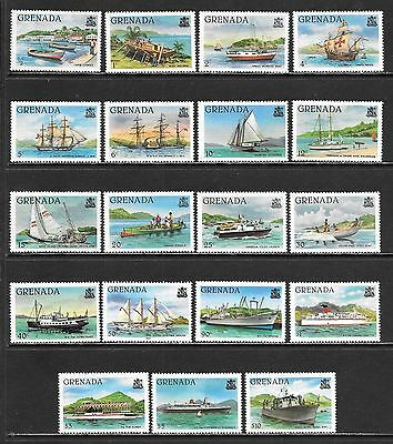 GRENADA 1980 Ships Mint Issues with and without P.R.G. Overprint (Feb 0112)