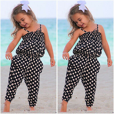 USA Kids Baby Girls Summer Romper Jumpsuit Bodysuit Playsuit Clothes Outfits