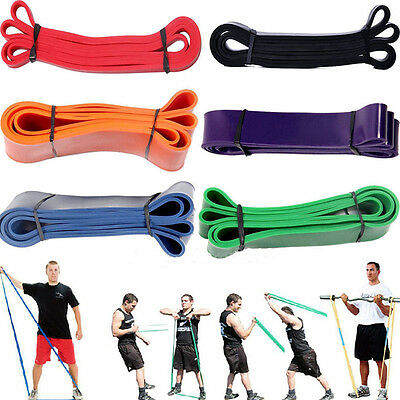 Heavy Duty Exercise Resistance Band Yoga Fitness Workout Stretch Bands Pull Up D