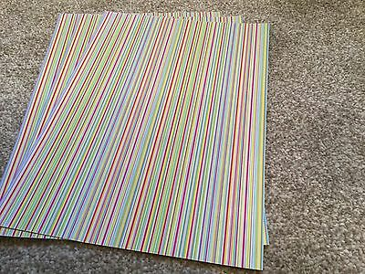 Dolls house miniature Striped Wallpaper X4 Sheets