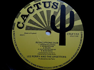 LEE PERRY & UPSETTERS - Revelutions Dub. Cactus CTLP 112  EX-