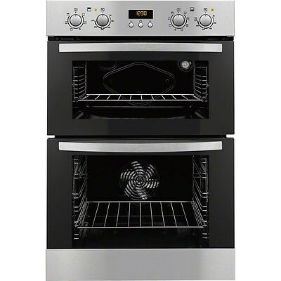 Zanussi ZOD35712XK Built in 'A' Rated Electric Double Oven in Stainless Steel