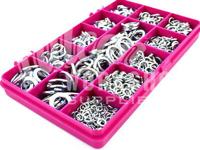 730 Assorted Zinc Plated Bzp Spring Locking Washers M3 M4 M5 M6 M8 M10 M12 Kit