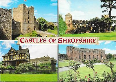 Castles of Shropshire  - Posted  Postcard  2016