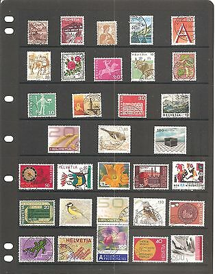 Sheet Of  32  Switzerland  Fine Used   Stamps    B
