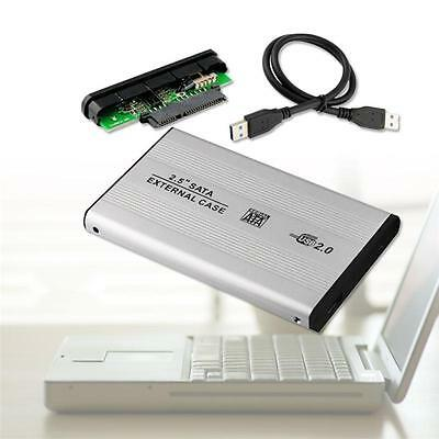 "2.5"" USB 2.0 IDE Hard Drive Disk HDD External Case Enclosure Box for Laptop UX"