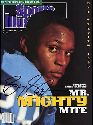 Barry Sanders Detroit Lions Autographed Mr. Mighty Sports Illustrated Magazine