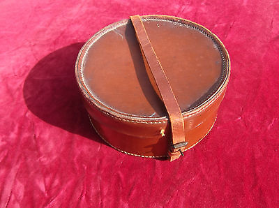 Vintage Collar Box / Leather Collar & Stud Box /antique Leather Collar Container