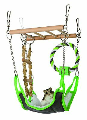 New Hammock & Playbridge Gerbil or Hamster Cage Pet Toy - 6298
