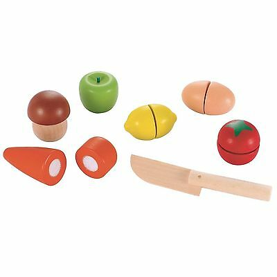 ELC Wooden Cut & Play Food Set - Early Learning Centre - 136071 - New