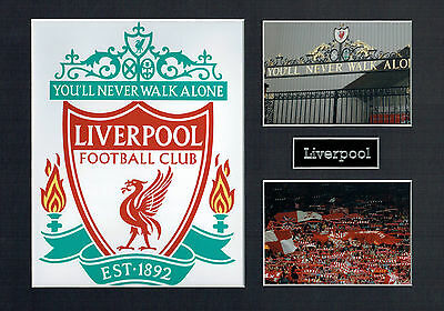 Liverpool FC ANFIELD The Kop 16 x 12 Photograph Photo Montage