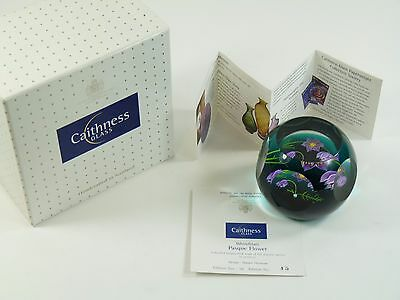 CAITHNESS Whitefriars Paperweight - Pasque Flower - 45 of 50 Limited Edition
