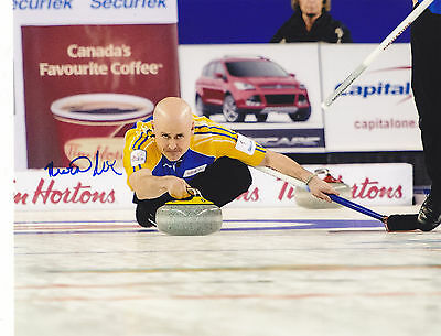 Kevin Koe Signed Autographed Canada Curling 8X10 Photo Alberta Brier 2016 Champs
