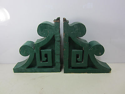 2 Vintage Wooden House Corbels for Projects