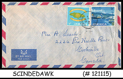 Jamaica - 1965 Air Mail Envelope To Canada With Girl Guide Stamp